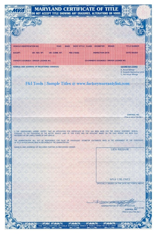 21 MD - How To Get A Duplicate Car Title In Maryland